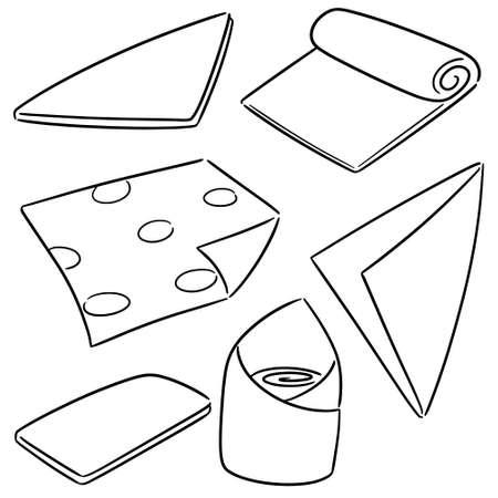vector set of napkin
