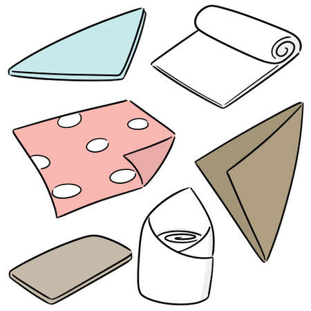 vector set of napkin