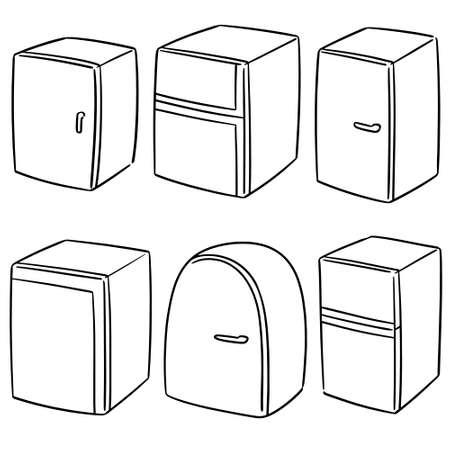 vector set of refrigerator