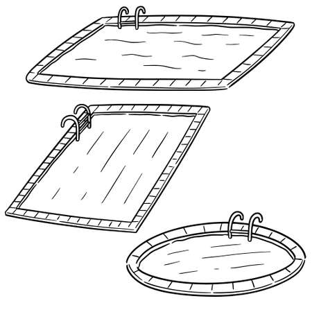 vector set of swimming pool Illustration