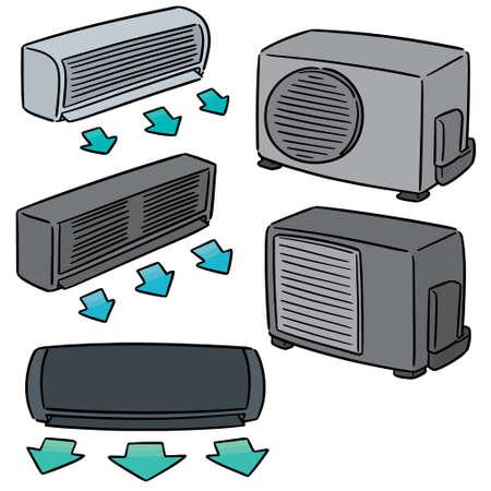 vector set of air conditioner Illustration