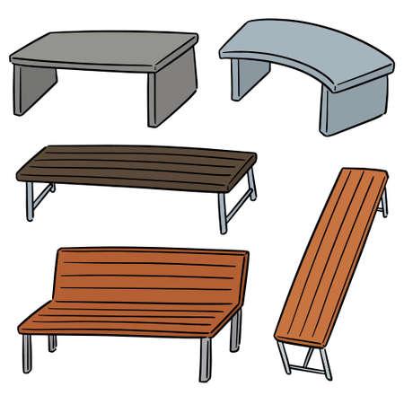 vector set of bench