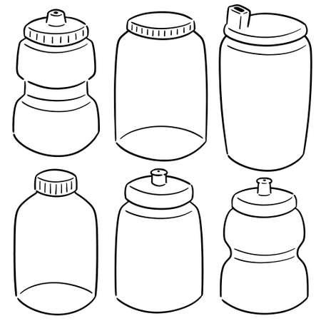 vector set of water bottle Illustration