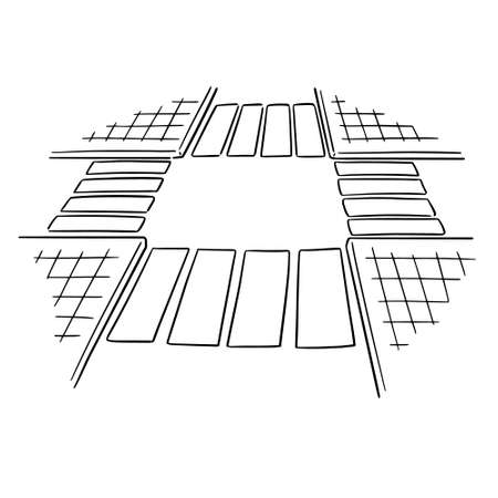 vector of intersection road