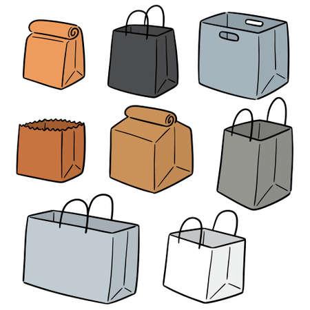vector set of paper bag Ilustração