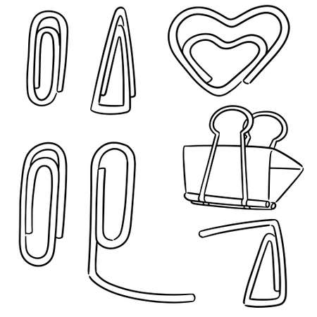 vector set of paper clip Vektorové ilustrace