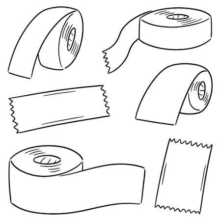 ensemble de vecteurs de ruban adhésif Vecteurs