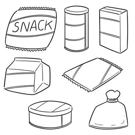 vector set of snack Ilustrace