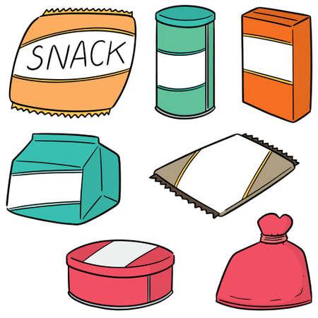 vector set of snack Vector Illustration