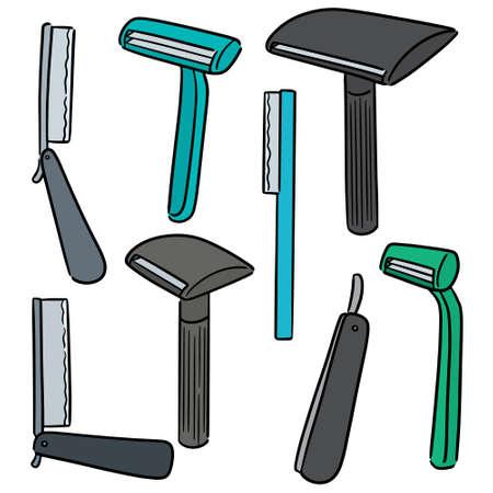 vector set of razor