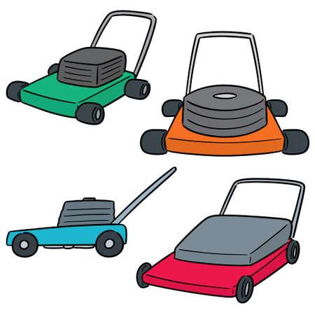 vector  set of mower Ilustracja