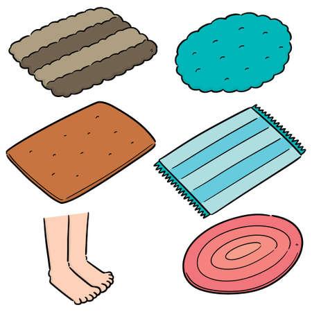 vector set of foot wipe