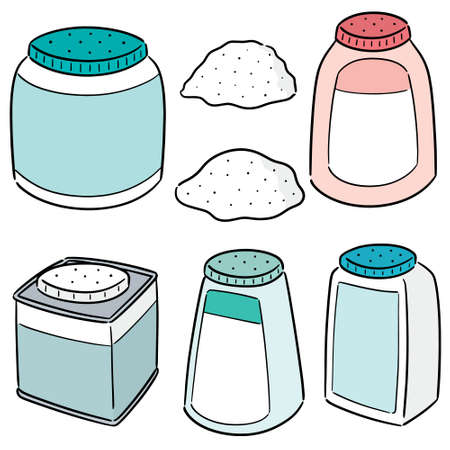 vector set of body powder