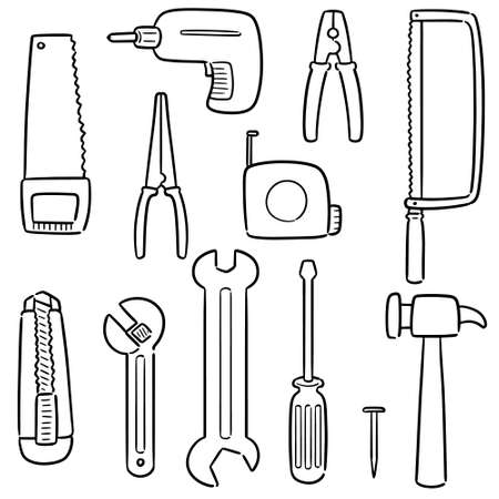 vector set of construction tools 矢量图像