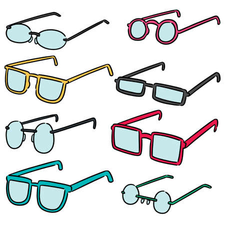 vector set of eyeglasses Illustration