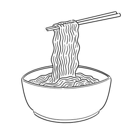 vector of noodle 向量圖像