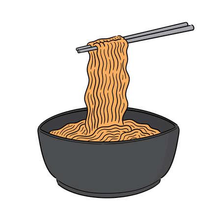 vector of noodle Illustration