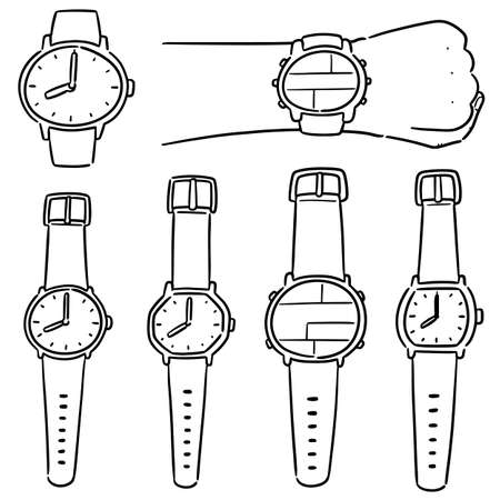 vector set of watch