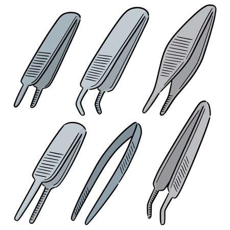 vector set of forceps Illustration