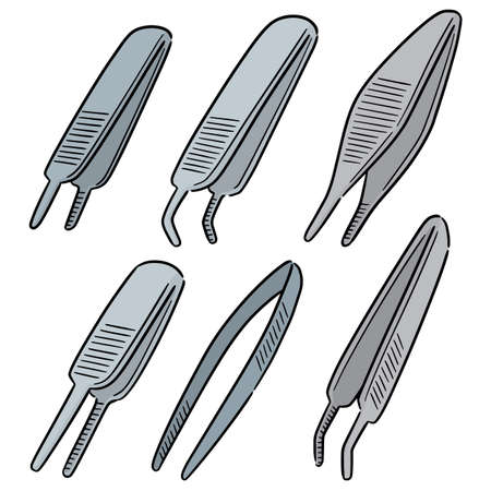 vector set of forceps Vectores