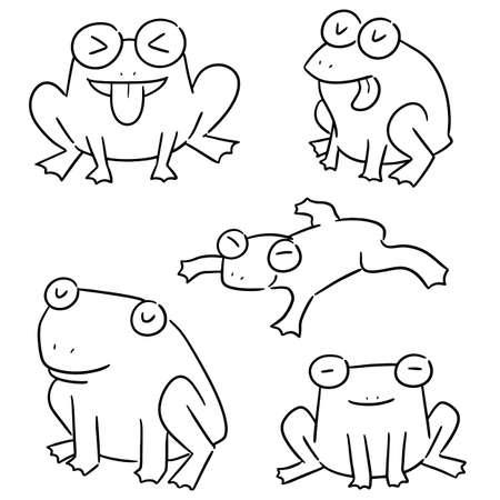 vector set of frog