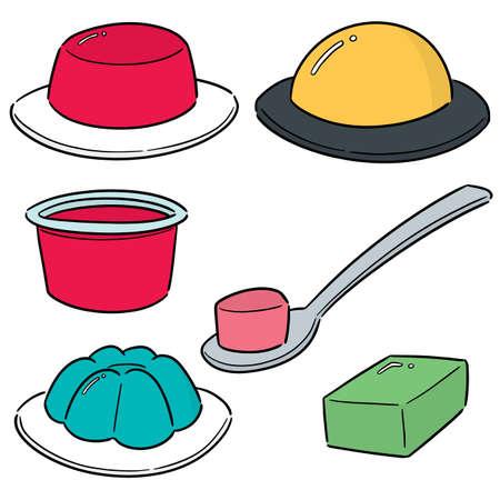 vector, conjunto, de, gelatina