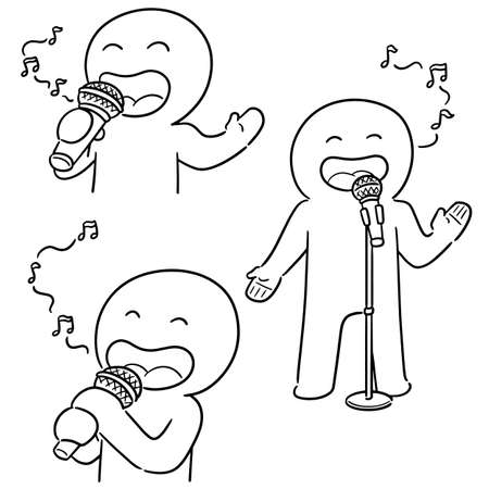 vector set of singer