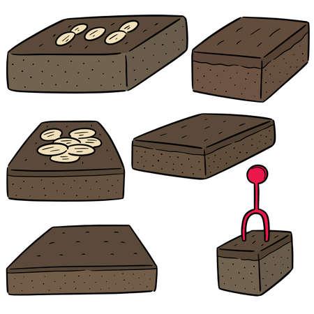 vector set of brownies