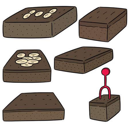 vector set of brownies