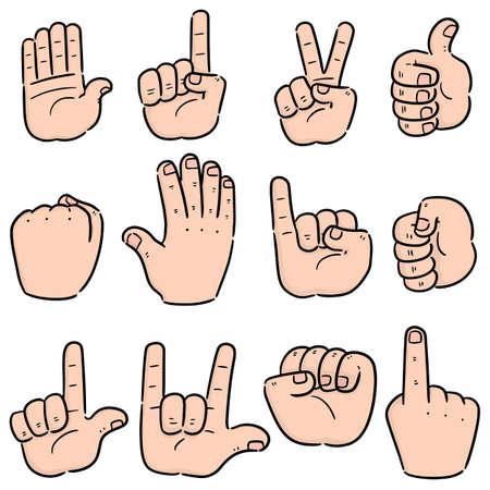 vector set of cartoon hand Illustration