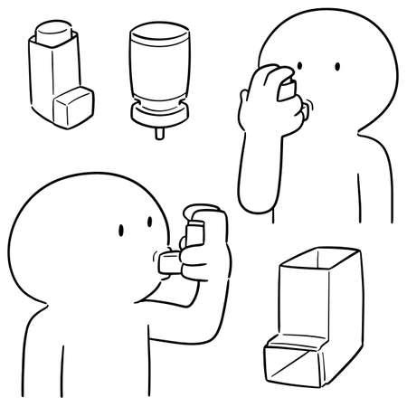 vector set of inhalation medicines