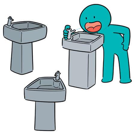 ensemble de vecteurs de fontaine d'eau potable