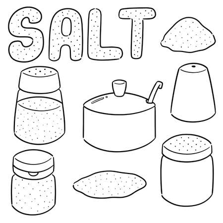 vector set of salt