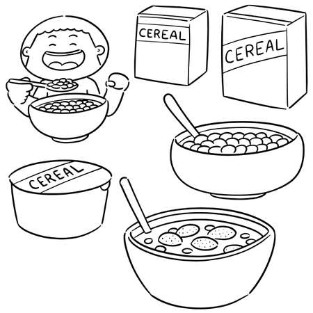 vector set of cereal