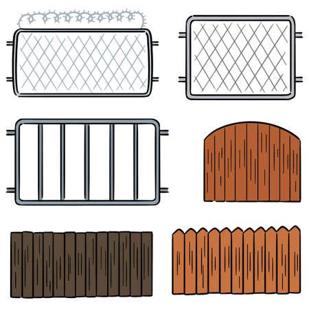 vector set of fence Vetores