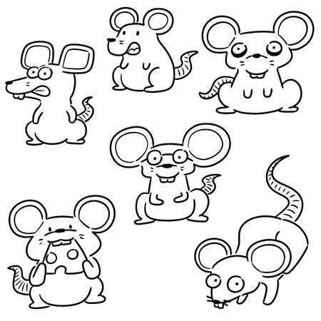 vector set of mouse Illustration