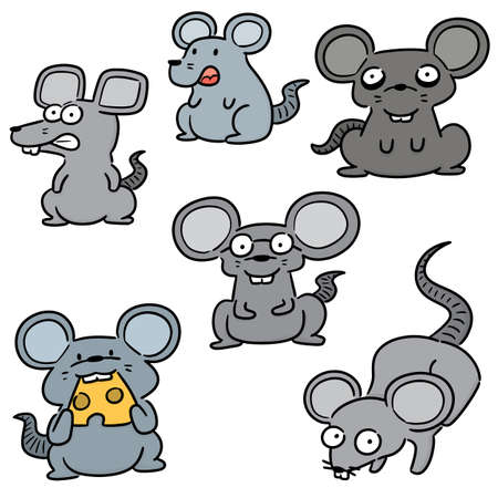 vector set of mouse 向量圖像