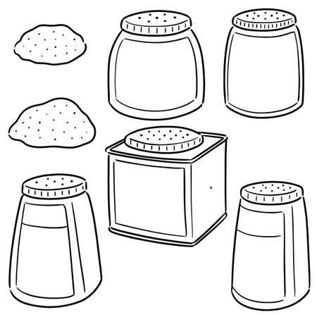 vector set of body powder Illustration