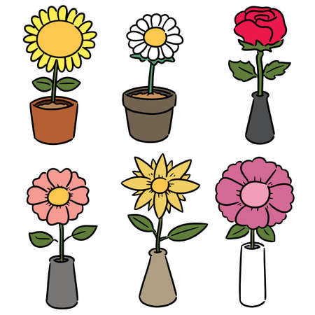 vector set of flower Stock Vector - 128645037