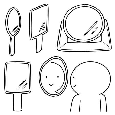 vector set of mirror Vectores