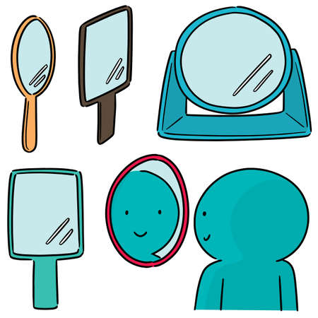 vector set of mirror Illustration