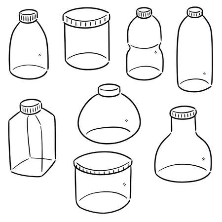 vector set of bottle Illustration