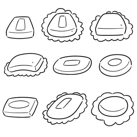 vector set of soap Illustration