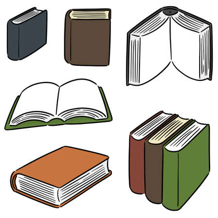 vector set of book