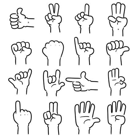vector set of cartoon hand 向量圖像