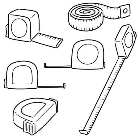 vector set of measuring tape Illustration