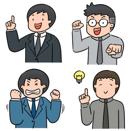 vector set of businessman