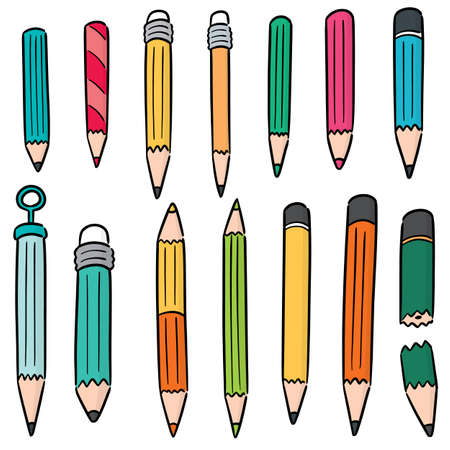 vector set of pencil Standard-Bild - 151581735