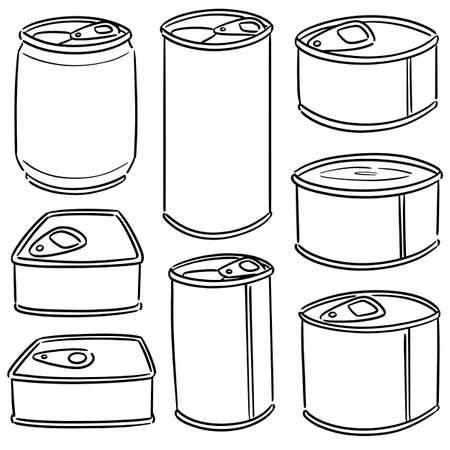 vector set of can 版權商用圖片 - 151581740