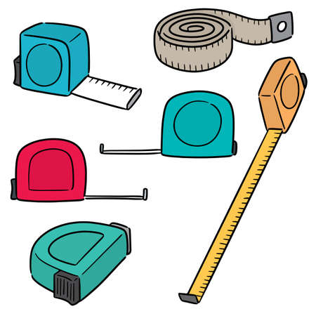 vector set of measuring tape Çizim